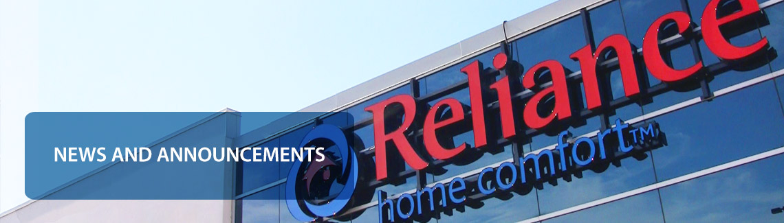 News from Reliance Home Comfort