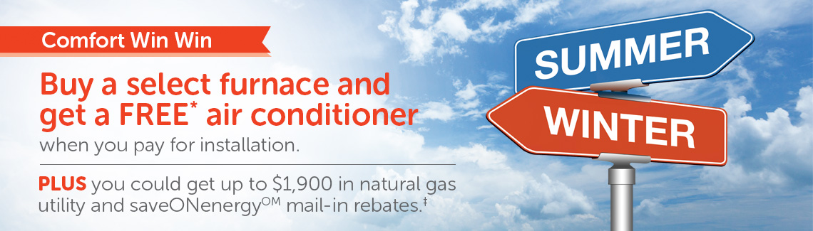 Buy a select furnace and get a free air conditioner when you for for installation