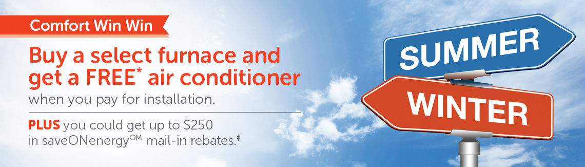 Get a free air conditioner when you buy a select furnace