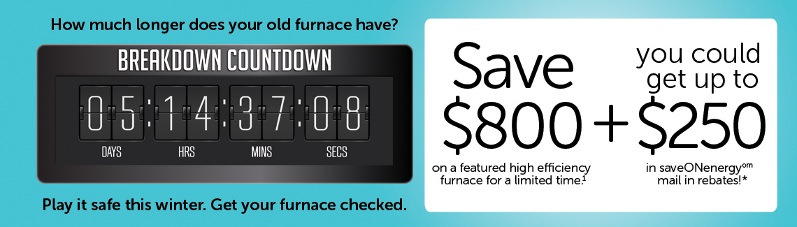 Save $800 on a featured high efficiency furnace | Reliance Yanch