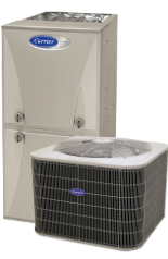 Carrier 100 Furnace and Air Conditioner